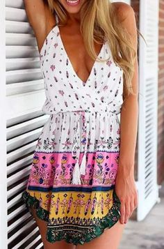 summer V drawstring dress ~ would be a great beach cover