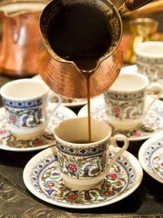 Arabic Coffee, Dubai, United Arab Emirates, Middle East Photographic Print by Nico Tondini - café la vida - I Love Coffee, How To Make Coffee, Best Coffee, Coffee Break, Morning Coffee, Coffee Tasting, Coffee Cafe, Coffee Drinks, Coffee Mugs