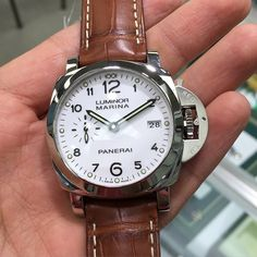 "16 Likes, 2 Comments - Da Vinci Watches (@davinciwatches) on Instagram: ""Men's 42 mm Panerai Luminor Marina 1950 3 Days Acciaio White Dial PAM 523 PAM 00523 #panerai…"""