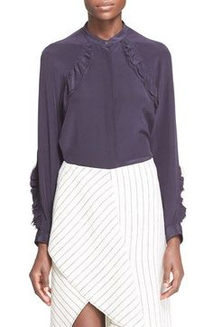 3.1 PHILLIP LIM Ruffle Silk Shirt. #3.1philliplim #cloth #