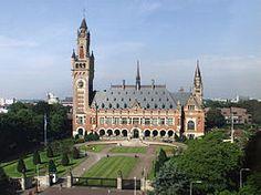 het Vredespaleis in Den Haag huisvest het Internationaal Gerechtshof