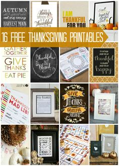 Free Thanksgiving Printables via @snapconf #thanksgiving #printables