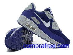 Comprar baratos mujer Nike Air Max 90 Zapatillas (color:azul,blanco) en linea en Espana. Nike Air Max, Air Max 90, Air Max Sneakers, Sneakers Nike, Zapatillas Nike Air, Color Azul, Kicks, Shoes, Fashion