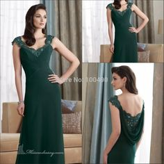 Plus Size Dark Green Beaded Cap Sleeves Long Chiffon Mother Of The Bride Formal Evening Dress Open Back Celebrity Dresses Spring Dresses From Zhengweihao1, $290.63| Dhgate.Com