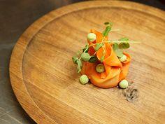 Amaro Yolk, Chicken Confit, Peas 'n' Carrots  Slide Show | Behind the Scenes of wd~50's New Tasting Menu | Serious Eats