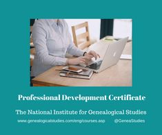 Courses for Professional Development #genealogy #Genealogist Certificate Programs, Professional Development, Family History, Genealogy, Study, Weird, Group, Business, Studio