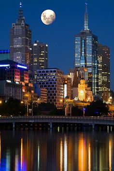 Melbourne, Australia. #travel the cities are so much more beautiful from a distance at night