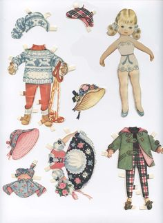 My sisters paperdolls - Cute vintage. This one I tried to fix and to make her new arms....