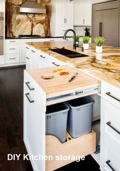 Home Interior Modern Gorgeous 30 Luxury Kitchen Storage Ideas To Save Your Space.Home Interior Modern Gorgeous 30 Luxury Kitchen Storage Ideas To Save Your Space. Kitchen And Bath, Kitchen Dining, Kitchen Decor, Decorating Kitchen, Kitchen Cart, Kitchen Sinks, Kitchen Drawers, Kitchen Themes, Farm Style Kitchen Cabinets