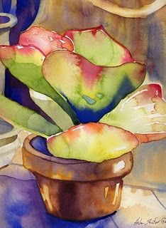 Watercolor from the blog AGAVE LATTE