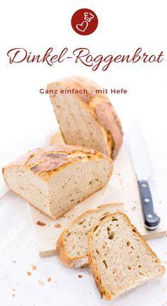 Brot Rezepte, Dinkel-Rezepte: Rezept für ein einfaches Dinkel-Roggenbrot von he… Bread Recipes, Spelled Recipes: Recipe for a simple spelled rye bread from herzelieb. So delicious that it can be addictive! Spelt Recipes, Rye Bread Recipes, Cake Recipes, Juice Recipes, Oatmeal Bread, Banana Bread, Food Cakes, Quick Rolls, Cake Mixture