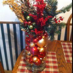 Ornament arrangement I made. Christmas 2011