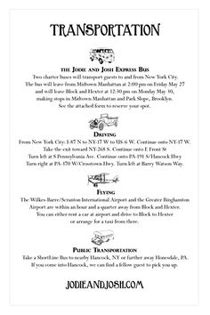 Jodie and Josh - Summer Camp Wedding Invitation (back)