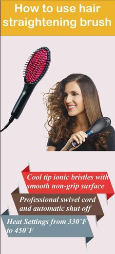 Hair Straightener - Wonder how to use hair straightening brush? Here we discuss how to use hair straightening brush properly. It's easy and convenient. So read on the article on how to use hair straightening brush.