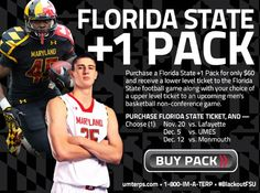 Maryland +1 Pack: Cross promotion email for football and men's basketball