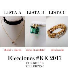 ENCUESTA : Si las elecciones #KK 2O17 para tu estilo en este viernes casual fueran hoy cual seria su voto?  Lista A: choker  cadena. Lista B: aretes solos.  Lista C: dúo de pulseras.  Su única promesa es realzar tu belleza y ser el complemento ideal para tu estilo.  Ilustraciones : @klebersoriano  C'est magnifique est #kk #fashion #moda #crystal #choker #velvet #necklace #bijoux #bisuteria #jewel #jewelry #publicidad #ads #designer #design #emprendedor #Guayaquil #Ecuador #photography #Nikon…