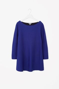 COS image 2 of Contrast lined A-line jumper in Blue