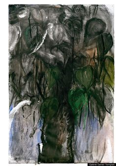 Jim Dine, Catapla Tree, 2011, 59 x 39 3/8 in  Mixed media on paper