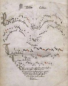 Baude Cordier, recueil de ballades, motets et chansons, début XVe, Musée Condé Chantilly