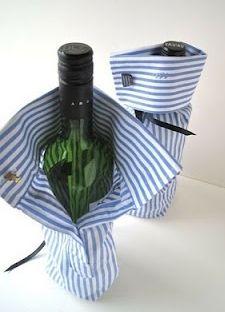 父の日ワインボトルのラッピングアイデア画像