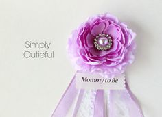 Baby Shower Corsage Girl Lilac Baby Girl Corsage By Simplycutieful, $15.00