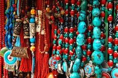 coral and turquoise beads