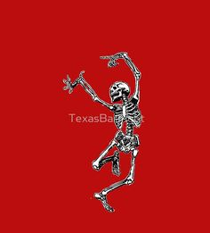 Dancing Skeleton - Transparent Background