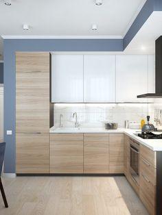 Kitchen Room Design, Modern Kitchen Cabinets, Kitchen Cabinet Design, Modern Kitchen Design, Interior Design Kitchen, Karton Design, Kitchen Modular, Modern Kitchen Interiors, Kitchen Remodel