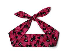 Rosie Wrap Pinup Hair Tie Bandana Head Scarf by BlackCatStitches