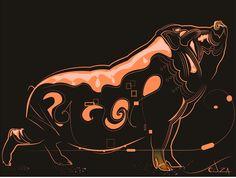 Ilustração - Title: Big Pig http://www.souzaarte.com/#!/cnfd