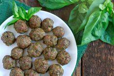 Pesto Meatballs Shared on https://www.facebook.com/LowCarbZen