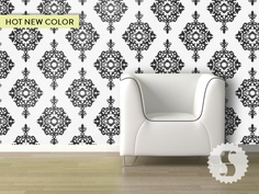 Peel-and-Stick wallpaper-Swag Paper-Diamond Damask- $6 sq/ft