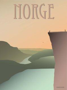 Norge plakat fra ViSSEVASSE - Preikestolen - køb her!