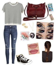 """""""normal teen/young adult look"""" by samanthaxoo on Polyvore featuring Chicnova Fashion, H&M, Converse, M&Co, Casetify and Kate Spade"""