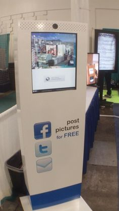 Coolest way to promote yourself with Facebook and Twitter in a social, event or tradeshow environment.