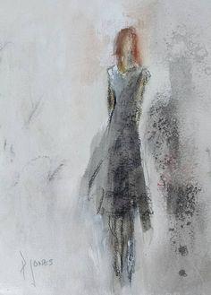 Strong woman in a black dress #paulajonesart #paulajones #art #painting #fineart #strongwomen #strong #women www.paulajonesart.com