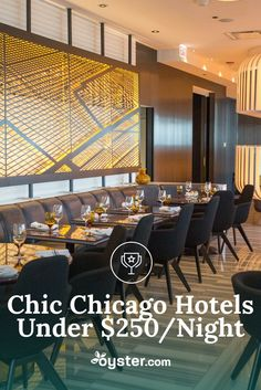 The downside to Chicago's lovely summer weather, rich culture, and well-established dining and nightlife scene is that the city's hotel prices can be extremely high. Fortunately, we here at Oyster.com are hotel experts and we've found some deals. Below you'll find nine hipster-chic Chicago hotels for under $250/night – some are as low as $55/night. And we promise, you'll actually want to book this cool spots.