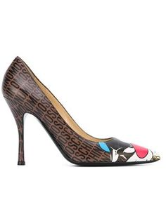Moschino Sylvester and Tweety printed pumps