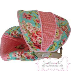 Love+Bliss+Bouquet+Infant+Car+Seat+Cover+Moves+To+by+sewcuteinaz,+$65.00