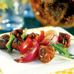 Moroccan Chicken Kebabs ~ These  are prepared with a dry rub that deliciously combines an exotic blend of cinnamon and cloves.