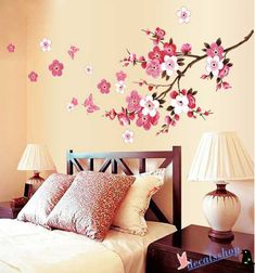 large cherry blossom wall decal vinyl cherry blossom decal wall art stickers for room decor