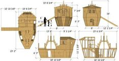 Childrens Playhouse Plans 363173157454375091 - Davy Jones' Locker Pirateship Plan for Kids – Paul's Playhouses Source by 10x10 Shed Plans, Small Shed Plans, Shed Floor Plans, Wood Shed Plans, Free Shed Plans, Wooden Boat Plans, Shed With Loft, Run In Shed, Wooden Storage Sheds