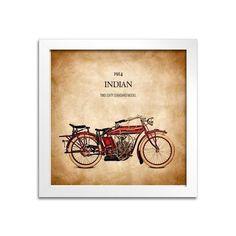 Quadro Moto Indian - Machine Cult   A loja das camisetas de carro e moto