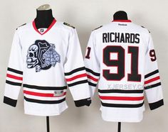 http://www.xjersey.com/blackhawks-91-richards-white-reebok-jerseywith-white-skull.html Only$50.00 BLACK#HAWKS 91 RICHARDS WHITE REEBOK JERSEY(WITH WHITE SKULL) #Free #Shipping!