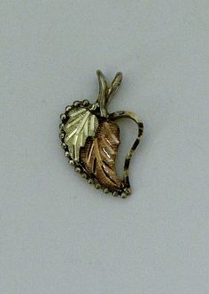 10K Gold and Sterling Silver Heart Pendant by onetime on Etsy, $14.25