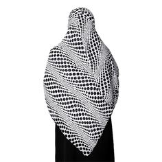 Large White Colored Hijab with Black Polka Dots Designed Scarf / Hijab / Khimar Only $9.99!