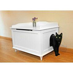 Designer Catbox Litter Box Enclosure | Hayneedle #catsdiylitterbox