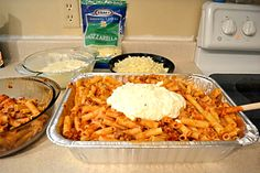 How to make Baked Ziti for a crowd.