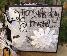 Wedding Scrapbook KIT Mini Album Precut with instructions by ArtsyAlbums, $37.99