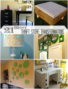 Twenty-one of the best thrift store transformations - makeovers include…